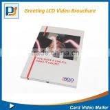 Creative design Style and Promotion gift/ advertising Use High quality greeting card LCD video mailer brouchure