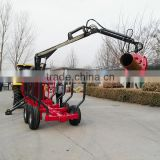 Manufacturer supply Wood Timber Log trailer with crane/ Forestry trailer and grapple