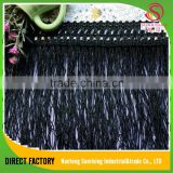 [NTSUNRISING]Wholesale 11CM 100% polyester polish black tassel fringe lace trimming for dancing dress decaration