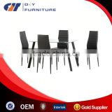 Clear Glass Dining Sets with 4 Chairs