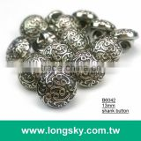 (#B6042/13mm) Taiwan made classical plated cloud stripes small shank buttons for lady dress
