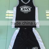 your team logo printing black and white color design basketall clothes breathable sublimation basketball uniform                                                                                                         Supplier's Choice