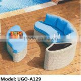 2015 hot sale Berlin Betty Outdoor rattan wicker Sectional combined Sofa lounge set UGO-A129
