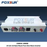 Metal Case High Quality Pure Sine Wave Inverter 1500VA 1000W 48V dc to 110V ac 19 inch 2U Rack Mount power inverter
