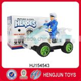 hot new products for 2016 electric bump&go light and music police beach car with projection function