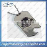 customized die casting 3D zinc alloy brass metal dog tag bottle opener