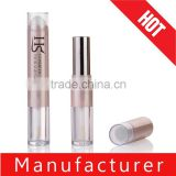 2015 unique design empty plastic lip gloss lip balm lipstick tube as one set