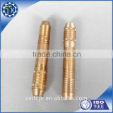 Factory Customized made soliding brass thread CNC enterprise lathe parts for auto spare part