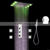 shower jet system high flow stainless steel overhead shower multi color remote contol bathroom shower accessories