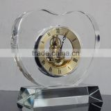 2016 China wholesale crystal glass wall clock wall design