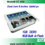 8 inches tablet pc Android 4.1 RK3066 DUAL CORE 1GB DDR3 8GB Flash Capacitive touch screen