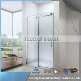 High-end big roller 6/8/10 mm tempered glass shower enclosure cubicle EX-802F front panel                                                                                                         Supplier's Choice