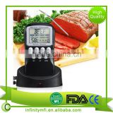 Range Wireless RF digital Meat BBQ Thermometer Food-grade 304 stainless steel , healthy and safe ,Wireless remote control