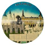 custom souvenir 3D ceramic decorative plate crafts Spain. Madrid (Diameter 17 cm