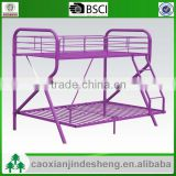 2015 new design kids use metal twin over full bunk bed - Purple Finish TF- 20