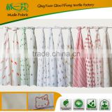 Wholesale 6 Muslin 70*70CM Squares 100% Cotton Printing Double Layers Gauze Cloth Baby Diaper