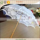 wedding bride shower cotton lace parasol