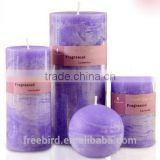 wholesale religious red; blue; white eco-friendly scented pillar candles