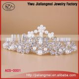 Wholesale price alloy tiaras . Yiwu fashion jewelry . Fashion hair claw cliphair accessory.