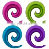 Beautiful ! Acrylic light blue coated ear spiral piercing