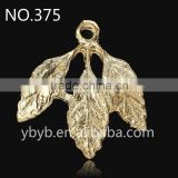 metal 3d leaf pendant Applique garment accessories in trimming -375