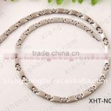 Hot selling bio cz diamond necklaces, magnetic titanium necklaces with germanium/ magnets/negative ion/ FIR