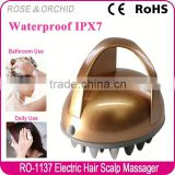 New beauty product waterproof electric vibrate scalp massager for bath