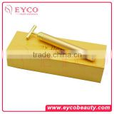 2016 professional Anti-Aging electic Vibration Facial Massager 24K gold Beauty Bar battery operated mini massager