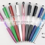 Valin high-end 2016 ballpoint pen metal making crystal touch screen pen for business gift