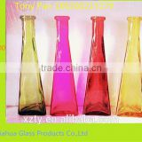 tall fancy glass decorative bottles,glass vases for company office