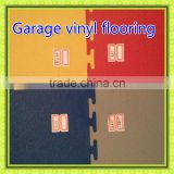 2016 hot sales interlocked heavy duty sturdy plastic garage floor tiles with texture top