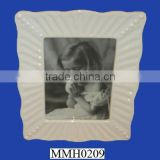 ceramic white photo frame