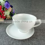 stock ceramic plain white tea cups with saucers set