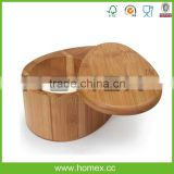 Eco-friendly bamboo swivel top salt box/ HOMEX - FSC,BSCI