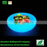 Hot!!!guangzhou High Bright LED Battery Fruit Tray/ RGB LED Ice Fruit Pot for bar/colorful led fruit tray