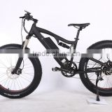 New arrival 26 inch 48V full suspension fat tire electric mountain bike with hidden battery