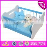 2015 Colorful Luxury wooden Large Dog Bed,Comfortable wooden large dog bed,Hot sale fashionable Dog product pet bed W06F005B