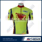 2015 High Quality Accept OEM sample order custom bike jersey cycling shirts cycling uniform