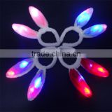 LED Light Luminous Rabbit Ears Headbands Flashing Bunny Ears Headdress Hair Band Hoop Toy Kid Birthday Party Supplies