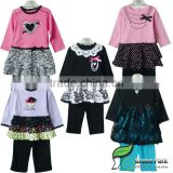2015 latest girls clothing sets baby korea boutique clothes kids outfits