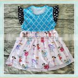 Wholesale second hand clothes baby dancing girl pattern cocktail night dress