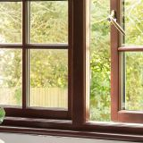 Double glazed wood grain PVC casement window