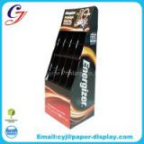 Electrical battery flooring cardboard display stand for promotional sale