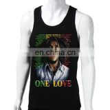 BOB MARLEY sports singlets,men's sports singlet