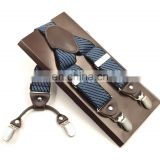 HOT SALE New fashion strap british style leather suspenders men and women suspenders Pants strap suspensorio braces