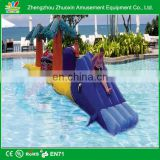 2014 Best Sale Crazy Fun Outdoor Commercial Grade inflatable pool obstacle,0.55MM PVC inflatable obstacle water game for Sale