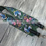 Buttferly printing Extra long bag strap bag belt