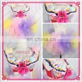 Aidocrystal Cute Belly Dance Outfit Set Handmade 2pics Bead Bra and Belt Costume