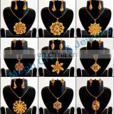Indian Handmade Meenakari Pendant Set-Wholesale One Gram Gold Plated Pendant Set-Indian meenakari jewelry
