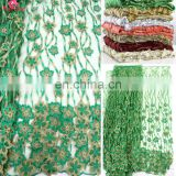 China supplier african flower wedding lace fabric for nigerian party